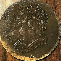 1820 LOWER CANADA BUST AND HARP HALF PENNY TOKEN - Breton 1012 - Sharp details!