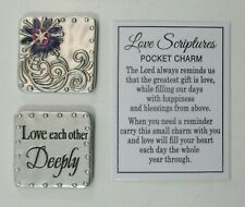 zzee Love Each other deeply Scripture Pocket Token Charm ganz wedding promise