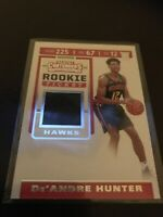 Panini Contenders Deandre Hunter Jersey Relic Hawks RC 19-20