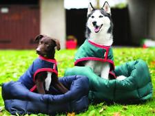 Horseware RAMBO Waterproof Comfy Soft DOG BED Cushion Pillow Brown/Navy S/M/L