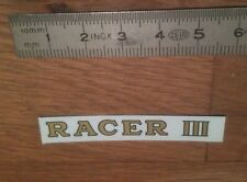 "Transfert logo ""RACER III"" pour Canot Boat HORNBY MECCANO"