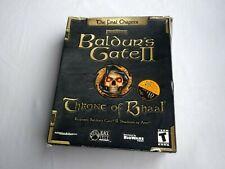PC Baldur's Gate II Throne of Bhaal (2001) w/ Big Retail Box Manual Disc & Docs