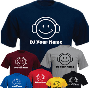 DJ SMILE Your Name custom Funny Retro New Tshirt