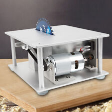 Mini Electric Precision Bench Top Table Saw Woodworking 3 Blades+cutting plate
