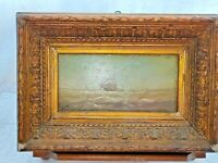 Dipinto olio su tavola firmato epoca fine 1800 Francia