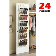 Over The Door 24 Shoe Organizer Rack Hanging Storage Holder Hanger Bag Closet