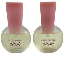 Vtg Exclamation Blush by Coty Cologne Spray for Women Two .5 oz Bottles 3/4 Full
