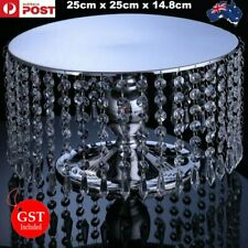1 Silver Crystal Cake Stand Acrylic Cupcake Wedding Dessert Platter Plate Party