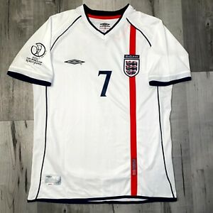 England 2002 World Cup Beckham Retro England Kit WC 2002 David Beckham Umbro
