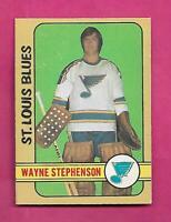 1972-73 OPC # 275 BLUES WAYNE STEPHENSON GOALIE  ROOKIE HIGH # VG (INV# D6129)