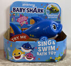 Pinkfong BABY SHARK Sing and Swim BATH TOY Water Activated -Daddy Shark Blue