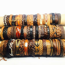 wholesale 50pcs/lot mixed stainless steel rings or leather handmade bracelets