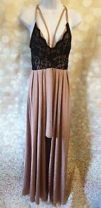 Dolls Paris Slinky Pink & Black Maxi Dress Size 8