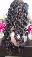 Beautiful Wavy Lace Front Wig Black/Light Auburn Heat Safe