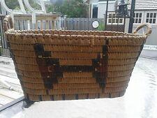Antique First Nations Native cedar bark and grass woven basket