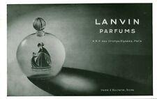 Publicité ancienne parfum LANVIN 1931 issue de magazine
