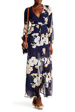 *308 L'ATISTE FLORAL WRAP LONG SLEEVE DRESS    SZ SMALL     MSRP$60