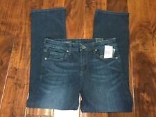 KUT from the Kloth Womens Size 2 Reese Crop Flare Jeans Stretch Dark Wash $89