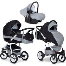 Kombi Kinderwagen Carbon NANO 88 AluTech Premium 3in1 Set Babywanne Buggy Schale
