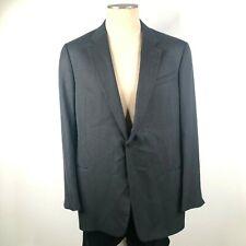 Armani Collezioni 48L Wool Single Button Herringbone Chevron Charcoal Blazer
