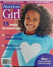 American Girl Feb 2016 15 Ways To Warm Up Make Pop Up Valentine FREE SHIPPING sb