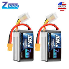 2x Graphene 1500mAh 120C 14.8V 4S LiPo Battery XT60 Plug for RC FPV Quad Drone