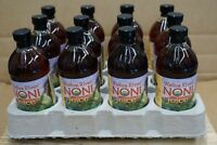 100% HAWAIIAN WAILUA RIVER NONI JUICE Certified Organic: 12 Glass Pint Bottles
