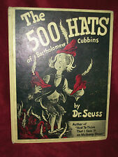 THE 500 HATS OF BARTHOLOMEW CUBBINS by Dr. Seuss 1989 1st ED