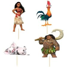 24 Pcs, Moana Cupcake Toppers Kids Birthday Party Supplies.