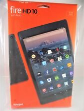 NEW IN BOX!~AMAZON FIRE~HD 10 with ALEXA~BLACK~32 GB TABLET~1080p~7th GENERATION