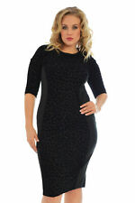 New Womens Midi Plus Size Dress Ladies Bodycon Leopard Print Party Nouvelle Sale