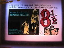 8 1/2 1963 Rare Australian cinema movie projector glass slide Federico Fellini