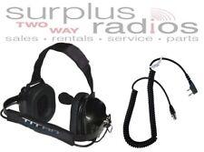TITAN DUAL MUFF RACING HEADSET FOR KENWOOD RADIO TK2160 TK3160 TK2170 TK3170