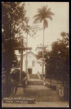IGREJA MATRIZ de PIRAHY Pirai do Sul PARANÁ. Old real photo postcard BRAZIL