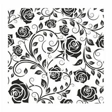 Black & White Classic Rose Floral Light Switch Vinyl Sticker Cover Skin Decal