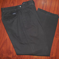 HUGO BOSS Mens Casual Pants Dark Brown Size 34-36 31 Inseam Cotton
