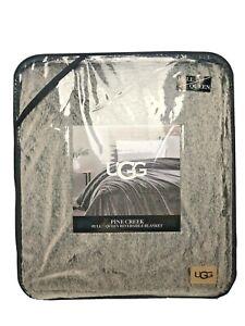 UGG Pine Creek Faux Fur Reversible Blanket/ Large Throw Queen Chocolate $150