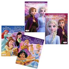 4 Pk Disney Princess Frozen II Coloring Books Cinderella Children's Girls Kids