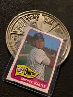 Mickey Mantle Topps 1996 New York Yankees Man Cave GIFT Collector Card INVEST NR