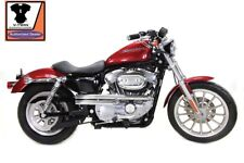 EXHAUST DRAG PIPES SLASH CUT CHROME SPORTSTER HUGGER 883-1200CC XL 1986-2003