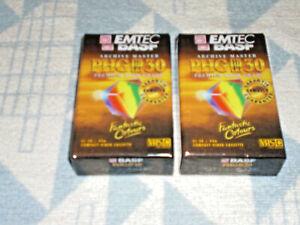 2 x BASF Emtec EC 30 PHG HiFi VHS-C High Grade Compact Video Casette  NEU OVP