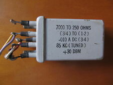 WESTERN ELECTRIC AUDIO INPUT TRANSFORMER 7000 TO 250 OHMS 0.010 A DC
