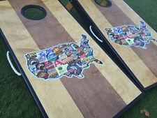 Dual Stained Craft Beer Custom Cornhole Board Set