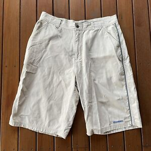 Vintage Mambo Size 36 Shorts Beige Baggy Casual Surf Mens