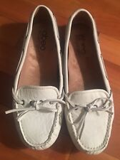 abeo B.I.O. Ladies Size 7 Narrow Marilee White Leather Casual Slip on Shoes
