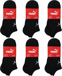 3-18 Paar Herren Damen Puma Sneaker Socken Basic Sneakersocken schwarz 39-49