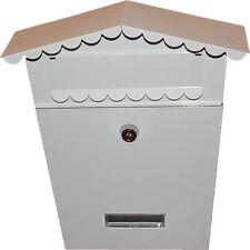 Casella di posta Bianco Lettera Scatola Parete Casella Di Posta Con 2 CHIAVI Secure Lock System