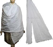 100% COTTON Wrap Scarf Wrap Dupatta Odni Sarong Pareo White Red Black Green Blue