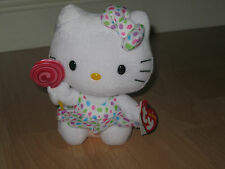 """TY TOYS - HELLO KITTY - 6"""" LOLLIPOP - BRAND NEW/TAGS - ** NEW LOWER PRICE**"""