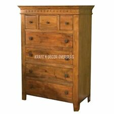 Comtempory Chest of Drawer of Shesham Wood 90 X 120 X 45 Cms in Brown Colour